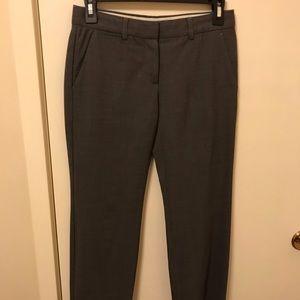 Theory Grey Wool Ankle Length Dress Pants